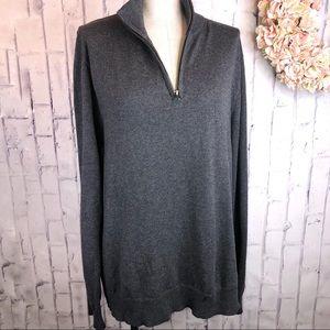 JCrew gray slim harbor cotton merino wool sweater